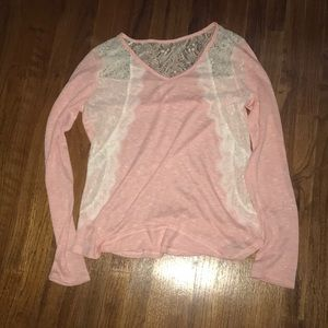 Laced Sweater With Free Matching Scarf